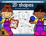 Sorting  2D Shapes - Kindergarten worksheets
