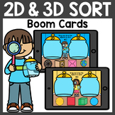 Sorting 2D and 3D Shapes Boom Cards Distance Learning
