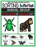 Sorting Activities Animal Group Arthropods and Mammals Part 1