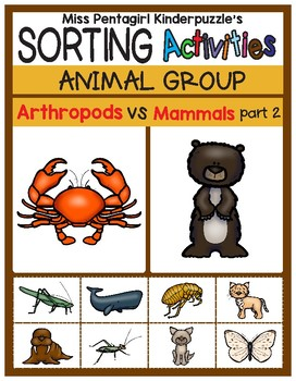 Sorting Activities Animal Group Arthropods and Mammals Part 2