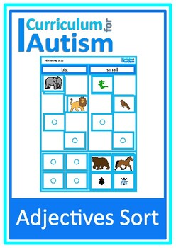 Adjectives Sort Big Small Hot Cold Heavy Light Autism SpecialEducation