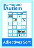 Adjectives Sort Big Small Hot Cold Heavy Light Autism Spec