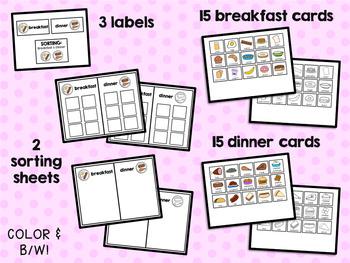Sorting: Breakfast and Dinner
