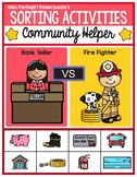 Sorting Activities Community Helper Bank Teller and Firefighter