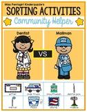 Sorting Activities Community Helper Dentist and Mailman