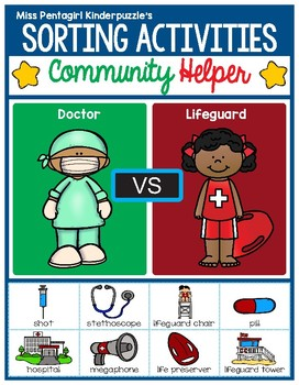Sorting Activities Community Helper Doctor and Lifeguard