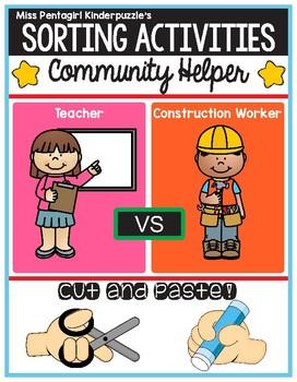 Sorting Activities Community Helper Teacher and Construction Worker