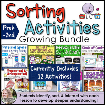 Counseling Sorting Activities Growing Bundle