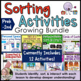 Counseling Sorting Activities Growing Bundle