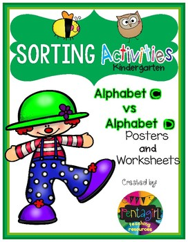 Sorting Activities Posters and Worksheets Alphabet C and D