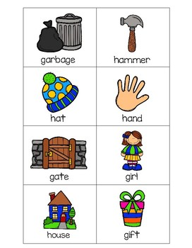 Sorting Activities Posters and Worksheets Alphabet G and H
