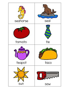 Sorting Activities Posters and Worksheets Alphabet S and T