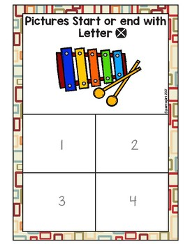 Sorting Activities Posters and Worksheets Alphabet W and X