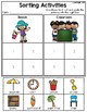 Sorting Activities Posters and Worksheets Beach and Classroom
