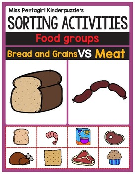Sorting Activities Posters and Worksheets Bread and Grains VS Meat