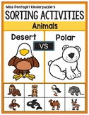 Sorting Activities Posters and Worksheets Desert and Polar Animals