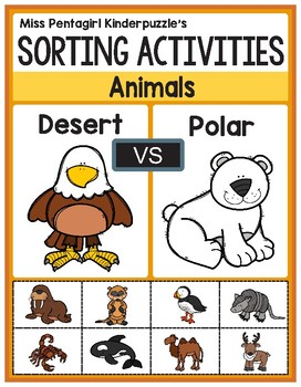 Sorting Activities Posters and Worksheets Desert and Polar