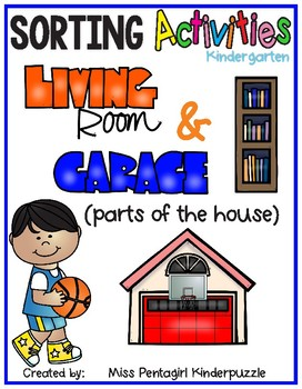 Sorting Activities Posters and Worksheets Living Room and Garage