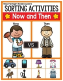 Sorting Activities Posters and Worksheets Now and Then