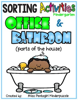 Sorting Activities Posters and Worksheets Office and Bathroom