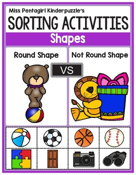 Sorting Activities Posters and Worksheets Round Shape and Not Round Shape