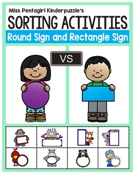 Sorting Activities Posters and Worksheets Round Sign and R