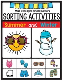 Sorting Activities Posters and Worksheets Summer and Winter