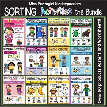 Sorting Activities Posters and Worksheets the Bundle