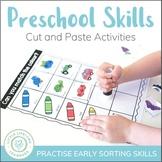 Sorting Activities - Preschool Cut and Paste