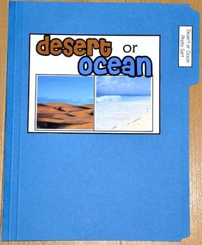 "Sorting Activity: ""Desert or Ocean Land Form Sort File Folder Game"""