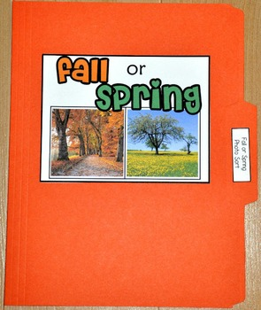 "Sorting Activity: ""Fall or Spring Sort File Folder Game"""