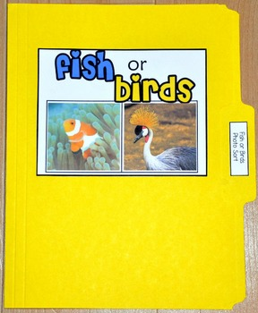 "Sorting Activity: ""Fish or Birds Sort File Folder Game"""