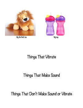 Sorting Activity- Force and Motion- Things that make sound or vibrate pictures
