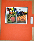 "Sorting Activity: ""Fruit or Vegetable Sort File Folder Game"""