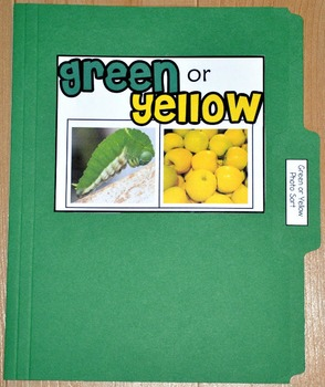 "Sorting Activity: ""Green or Yellow Sort File Folder Game"""