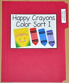 "Sorting Activity:  ""Happy Crayons Colors Sort"""