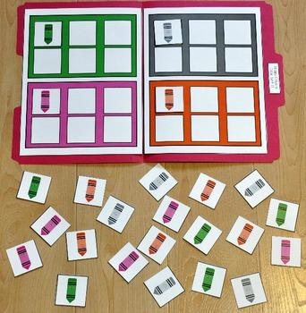 "Sorting Activity:  ""Happy Crayons Colors Sort II"""