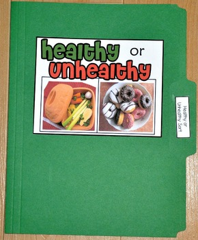 "Sorting Activity: ""Healthy or Unhealthy Foods Sort File Folder Game"""