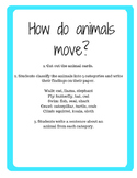 Sorting Activity: How do animals move?