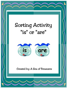 """Grammar Sorting Activity: """"Is"""" or """"Are"""""""