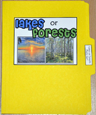 "Sorting Activity: ""Lakes or Forests Sort File Folder Game"""