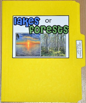 """Sorting Activity: """"Lakes or Forests Sort File Folder Game"""""""