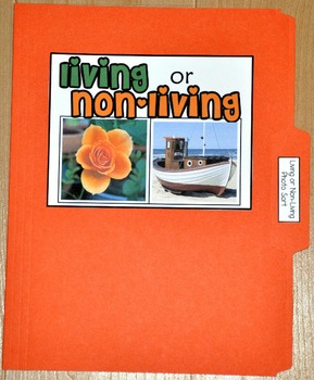 "Sorting Activity: ""Living or Non-Living Sort File Folder Game"""