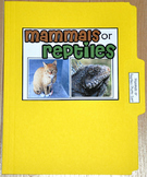 "Sorting Activity: ""Mammals or Reptiles Sort File Folder Game"""