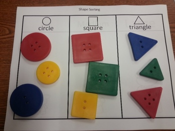 Sorting Activity Math Center Mats (5 sets) Eng & Spanish  C-scope Common Core
