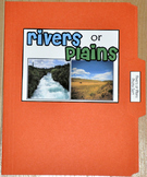 "Sorting Activity: ""Rivers or Plains Land Form Sort File Folder Game"""