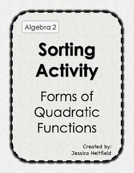 Sorting Activity: Solving Quadratic Equations