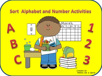 Sorting Alphabet and Number Activities