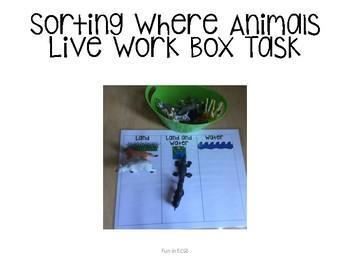 Sorting Animal Mats Work Box FREEBIE