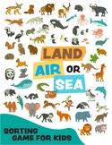 Sorting Animals - Land, Air and Sea